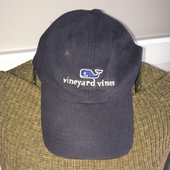 23ee4f08cda VINEYARD VINES NAVY WHALE PREPPY PREP BASEBALL HAT.  M 5a64d9163afbbdfbde72f2a1